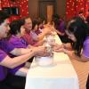 คณะวิทยาการจัดการจัดพิธีรดน้ำดำหัวขอพรอาจารย์รุ่นพี่ วันที่ 24 เมษายน 2558